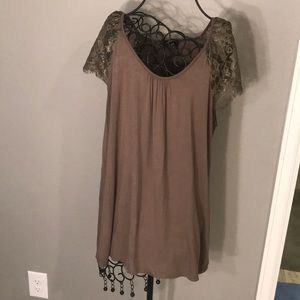 Lane Bryant Olive Green Blouse